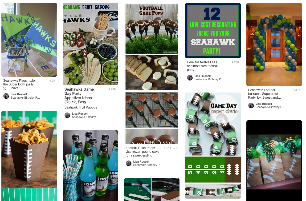 We'd love to decorate for your Seahawks birthday party